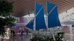 Makassar Airport Phinisi Ship Model